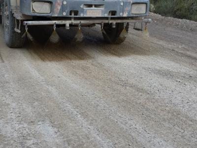 ECO ROAD application: dust-free and ecofriendly