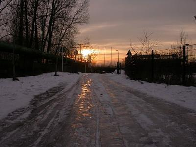 Frozen road: source of danger