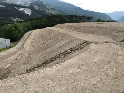 Landfill slope before covering through COWASTE
