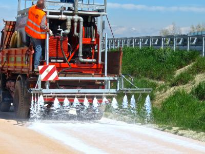 Final STABILPAVE application to protect the inert